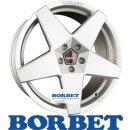 Borbet A 7,5X17 4/98 ET30 Brilliant Silver