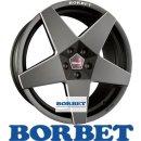 Borbet A 7,5X17 4/100 ET25 Black matt