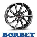 Borbet VTX 6,5X20 5/114,30 ET33 Graphite Polished